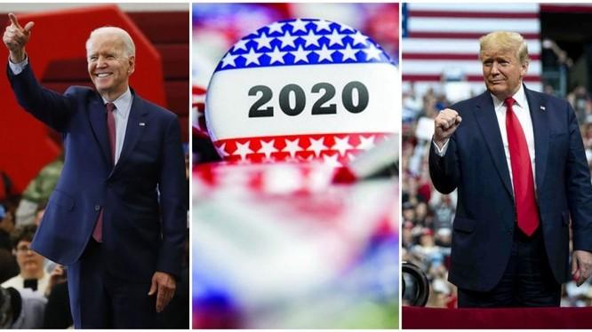 Tỷ lệ cử tri ủng hộ hai ứng cử viên Donald Trump và Joe Biden đang dần xích lại gần nhau (Ảnh: Dongfang).