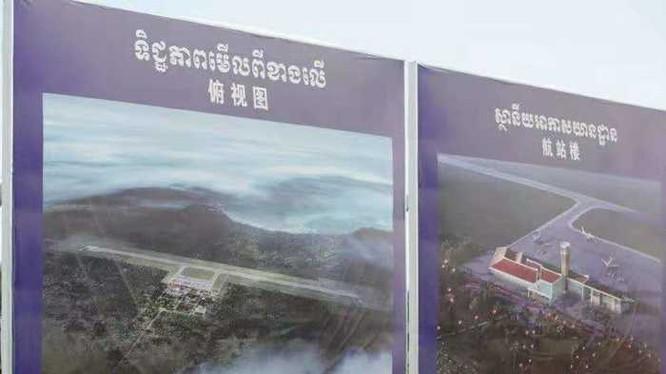 Dự án Khu nghỉ dưỡng Dara Skor ở Kokong, Campuchia với sân bay khổng lồ bị nghi ngờ dùng cho quân sự do Công ty Youlian thuê đất 99 năm để xây dựng (Ảnh: 168.com).