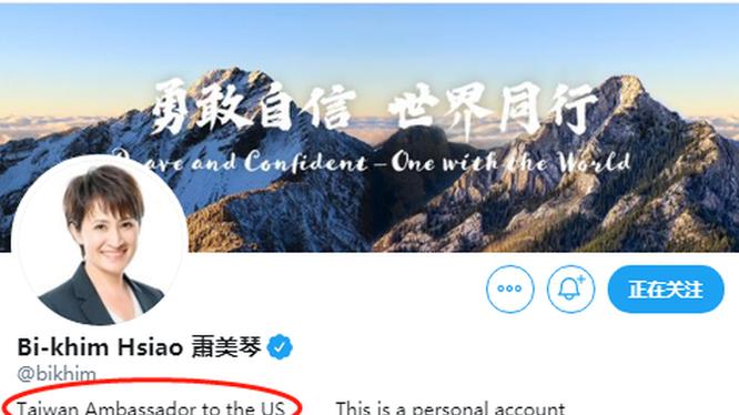 """Việc bà Tiêu Mỹ Cầm viết danh xưng trên Twitter là """"Đại sứ"""" đang gây nên bão dư luận (Ảnh: Đa Chiều)."""