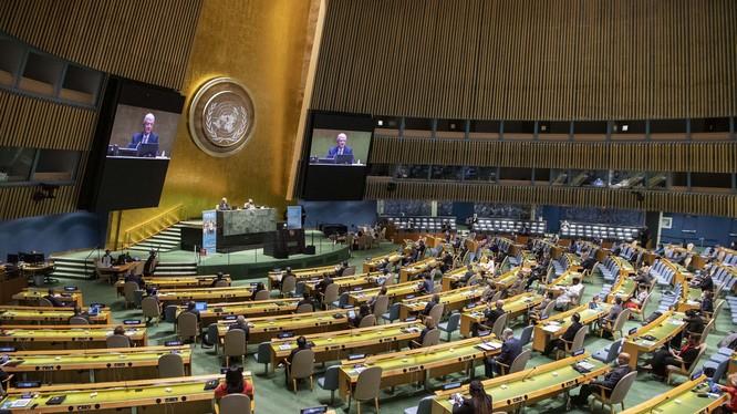 Tại phiên tranh luận kỳ họp Đại hội đồng Liên Hợp Quốc lần thứ 75, hai nhà lãnh đạo Mỹ và Trung Quốc đã chỉ trích lẫn nhau (Ảnh: AP).