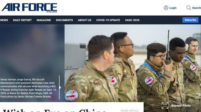 Bài viết và hình ảnh gây rúng động dư luận Trung Quốc trên tạp chí của quân đội Mỹ (Ảnh: Đa Chiều).