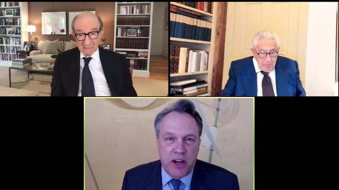 Ông Henry Kissinger tham gia Diễn đàn Kinh tế mới Bloomberg 2020 trực tuyến hôm 16/11 (Ảnh: Guancha).