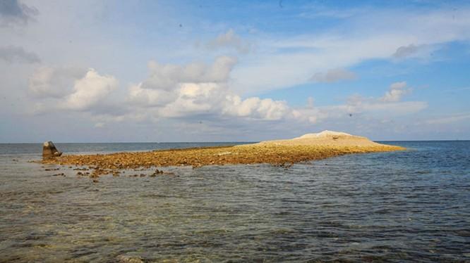 Bãi cạn Luconia Breakers -nơi diễn ra sự kiện đối đầu giữa tàu hải cảnh Trung Quốc và tàu hải quân Malaysia (Ảnh: Dwnews).