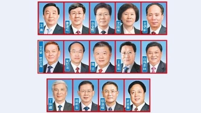 14 vị Phó Chủ tịch Ủy ban Thường vụ Quốc hội Trung Quốc bị Mỹ tuyên bố trừng phạt (Ảnh: Dongfang).