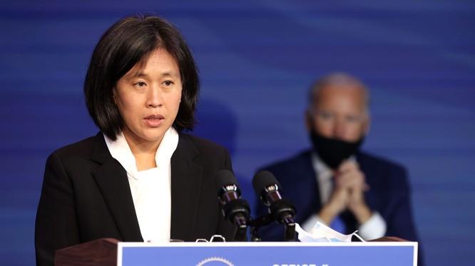 Bà Katherine Tai, 45 tuổi, người Mỹ gốc Hoa đã được ông Joe Biden đề cử làm Đại dện Thương mại Mỹ trong nội các tới đây, (Ảnh: AP).