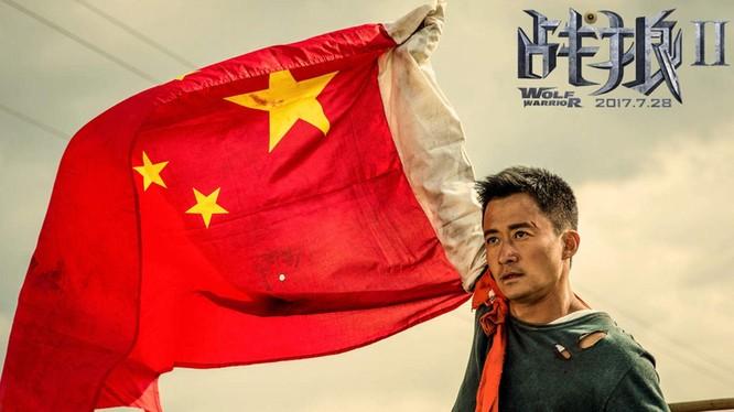 Tên của bộ phim ăn khách Chiến lang đã trở thành từ đại diện cho phong cách ngoại giao hiếu chiến của Trung Quốc (Ảnh: Dwnews).