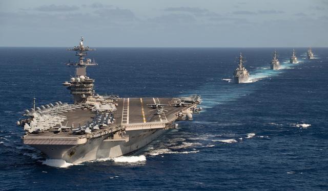 Ngày 23/1, nhóm tác chiến tàu sân bay USS Roosevelt vào Biển Đông lần đầu tiên sau khi ông Joe Biden nhậm chức (Ảnh: Sohu).