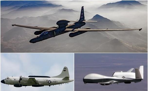 Ngày 2/2, Mỹ cho nhiều loại máy bay trinh sát bay trên vùng trời hai đầu cực Bắc và Nam Đài Loan (Ảnh: Dongfang).