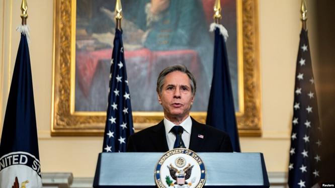 Ngày 3/3, Ngoại trưởng Antony Blinken lần đầu tiên phát biểu chính thức về chính sách ngoại giao, coi đối phó với thách thức của Trung Quốc là một ưu tiên (Ảnh: Reuters).
