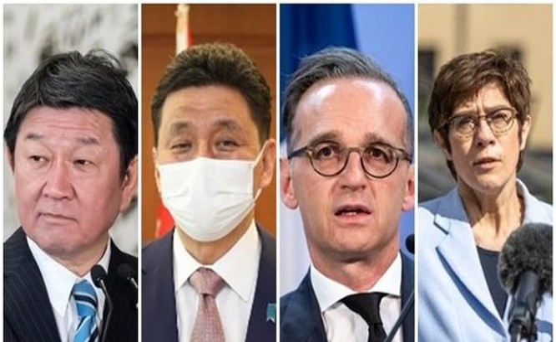 Các Bộ trưởng Ngoại giao và Quốc phòng Nhật - Đức sẽ tổ chức hội đàm 2+2 để thảo luận việc hợp tác đối phó Trung Quốc (Ảnh: Đông Phương).