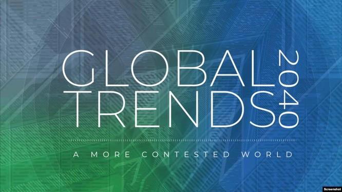 Báo cáo về xu hướng toàn cầu 2040 của Ủy ban tình báo quốc gia Mỹ cảnh báo về các mối nguy cơ, trong đó có xung đột Mỹ - Trung (Ảnh: VOA).