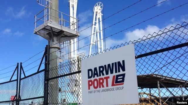 Australia đang xem xét việc cưỡng chế hủy bỏ việc cho công ty Trung Quốc thuê cảng Darwin 99 năm vì lo ngại an ninh (Ảnh: VOA).
