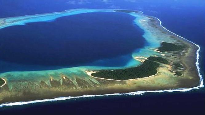 Bãi cạn Scaborough tranh chấp giữa Philippines với Trung Quốc bị Trung Quốc kiểm soát từ năm 2012 (Ảnh: AMTI).