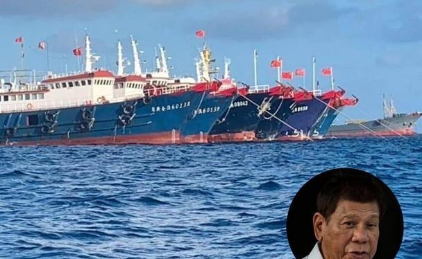 Hôm 14/5, Tổng thống Philippines Duterte (ảnh nhỏ) bày tỏ quyết không nhượng bộ trong vấn đề tranh chấp chủ quyền với Trung Quốc ở Biển Đông (Ảnh: Đông Phương).