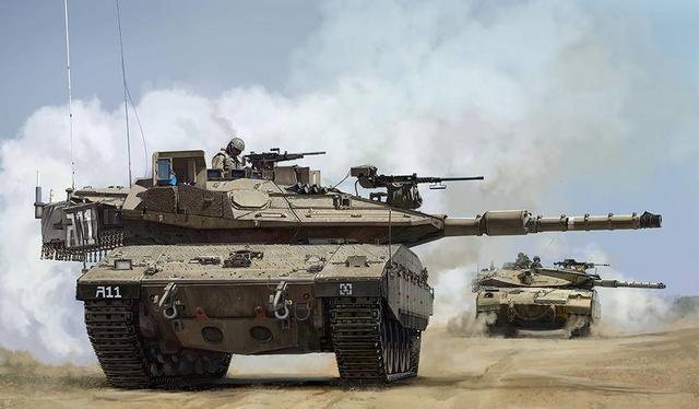 Xe tăng chủ lực Merkava-4 của Israel (Ảnh: 163.com).