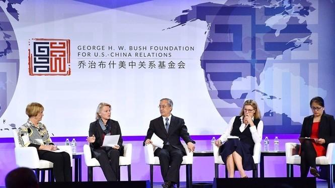Việc Quỹ Quan hệ Mỹ - Trung của cố Tổng thống George H.W. Bush nhận tiền của Trung Quốc đang gây rúng động dư luận Mỹ (Ảnh: ncafp).
