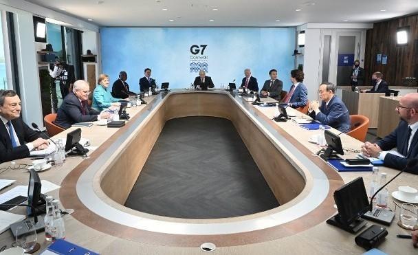Đề phòng Hội nghị Thượng đỉnh Nhóm G7 bàn về Trung Quốc bị nghe trộm, phòng họp bị ngắt mọi hệ thống liên lạc và mạng Wi-Fi (Ảnh: Getty).
