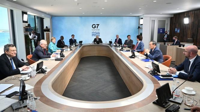 Hội nghị thượng đỉnh Nhóm G7 bế mạc với tuyên bố chung có lời lẽ cứng rắn chưa từng thấy với Trung Quốc (Ảnh: Reuters).