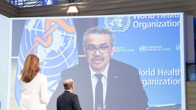 Ngày 12/6, ông Tedros Adhanom phát biểu qua truyền hình tại Hội nghị thượng đỉnh Nhóm G7, kêu gọi Trung Quốc cởi mở, hợp tác truy xuất nguồn gốc SARS-CoV-2 (Ảnh: Đa Chiều).