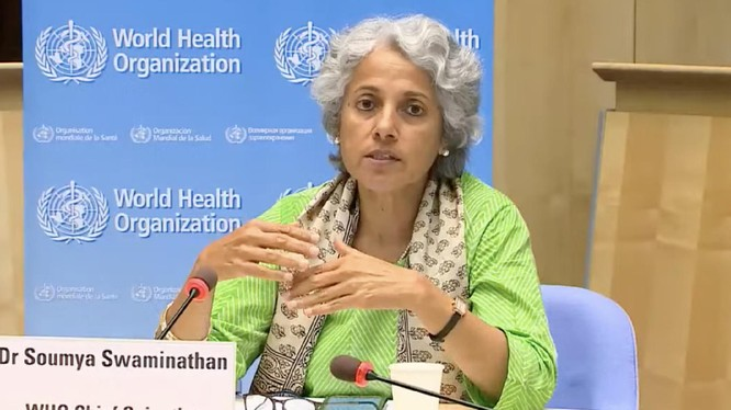 Bà Soumya Swaminathan, nhà khoa học hàng đầu của Tổ chức Y tế Thế giới,tuyên bố biến chủng Delta lây lan mạnh hiện đã trở thành chủng virus chính gây dịch COVID-19 (Ảnh: Sohu).