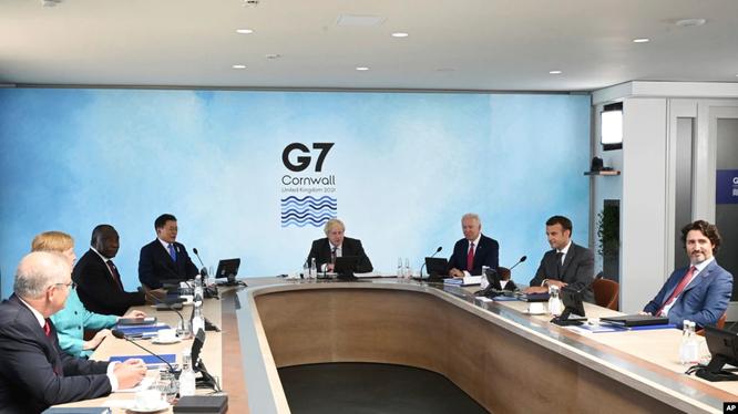 Hội nghị thượng đỉnh Nhóm G7 họp trung tuần tháng 6 tại Anh đã thống nhất kêu goi tiếp tục tiến hành điều tra về nguồn gốc SARS-CoV-2 (Ảnh: AP).