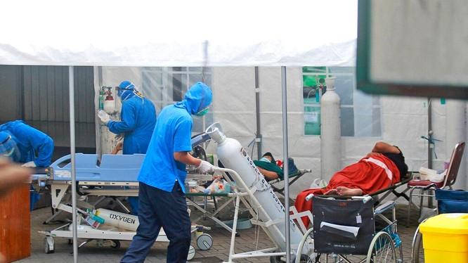 Bệnh viện Dr. Sardjito nơi có 63 bệnh nhân chết vì thiếu oxy đêm 3/7 đã được cung cấp oxy trở lai từ ngày 4/7 (Ảnh: AP).
