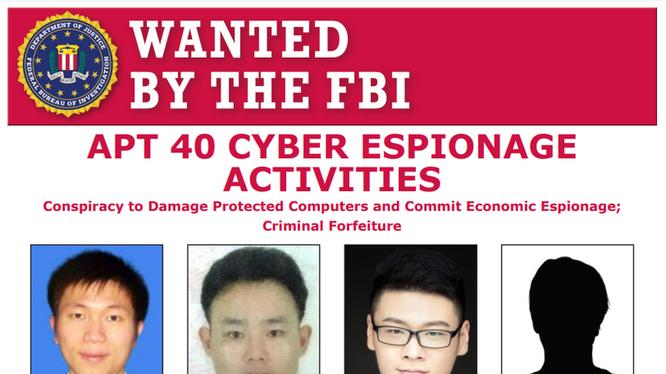 4 tin công dân Trung Quốc bị FBI truy nã, Bộ Tư pháp Mỹ khởi tố (Ảnh: Đông Phương).
