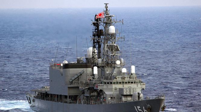 Tàu khu trục JS Setogiri của Nhật (Ảnh: sina).