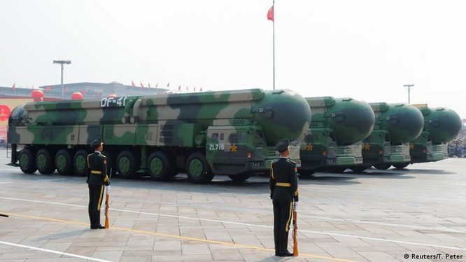 Tên lửa liên lục địa DF-41, lực lượng tấn công hạt nhân chủ yếu của Trung Quốc hiện nay (Ảnh: Reuters).