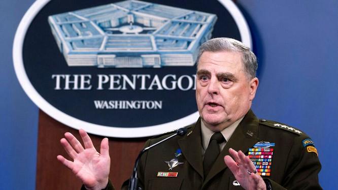 Tướng Mark Milley, người đang bị dính vào vụ bí mật liên lạc với Trung Quốc (Ảnh: AP).