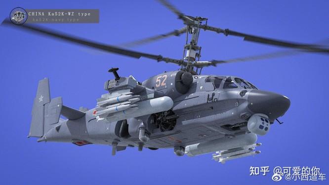 Loại Ka-52K-WZ Trung Quốc mua của Nga (Ảnh: Zhihu).