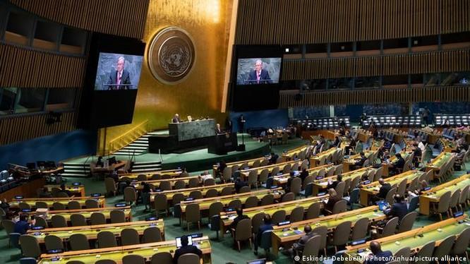 Kỳ họp 76 Đại hội đồng Liên Hợp Quốc khai mạc ngày 21/9 với khoảng 1/3 lãnh đạo các quốc gia dự họp với hình thức trực tuyến (Ảnh: Xinhua).