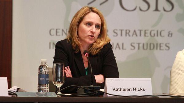 Bà Kathleen Hicks, Thứ trưởng Bộ Quốc phòng Mỹ phát biểu cam kết giúp bảo vệ Đài Loan tại hội thảo của CSIS (Ảnh: Twitter).