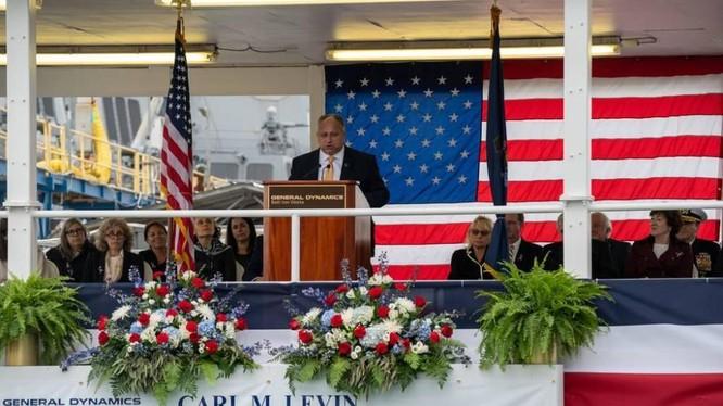 Bộ trưởng Hải quân Mỹ Carlos Del Toro tuyên bố có chức trách ngăn chặn Trung Quốc chiếm Đài Loan (Ảnh: Sunnews).