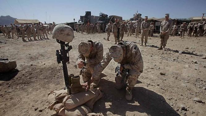 Năm 2015, Bộ Quốc Phòng Mỹ đã công bố danh sách tên của 2.254 thành viên đã bỏ mạng tại cuộc chiến Afghanistan, Pakistan và Uzbekistan. Nguồn: The Nation