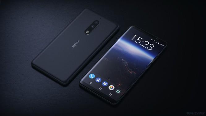 Hình ảnh dựng Nokia 9 dựa trên thiết kế rò rỉ tháng 4/2017. Nguồn: TechRadar