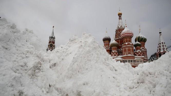 Nhiệt độ cuối tuần qua tại thủ đô Moscow, Nga là âm 15 độ C. Nguồn: Reuters