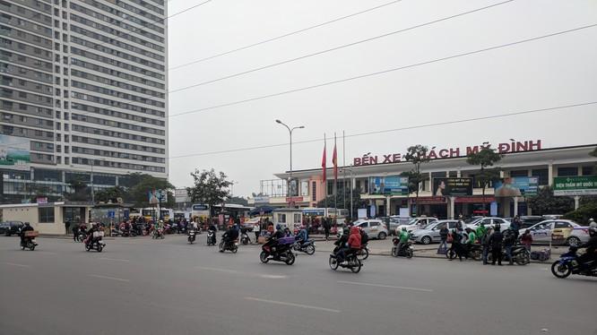 Trên đoạn đường Phạm Hùng không xảy ra tình trạng ùn tắc như cuối tuần trước