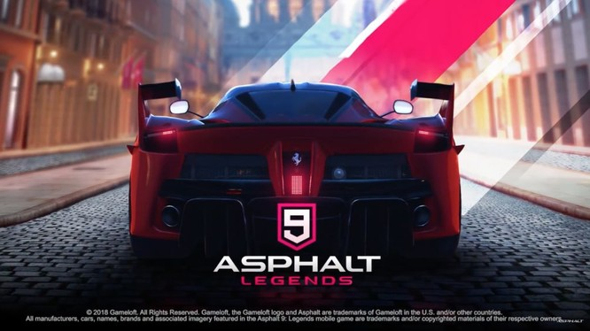 Asphalt 9: Legends là tựa game đua xe miễn phí được Gameloft phát triển và phát hành. Nguồn: DroidGamers