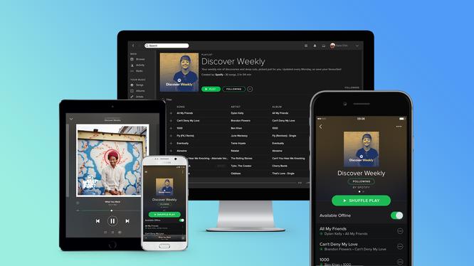 Spotify cung cấp ứng dụng cho nền tảng Windows, Android và iOS