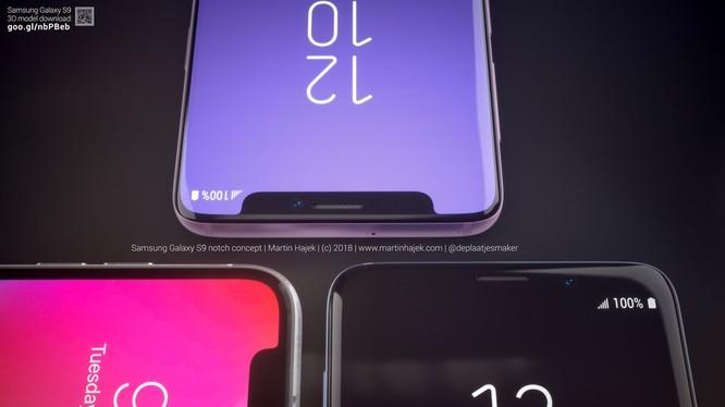 """Bộ ảnh dựng 3D của nhà thiết kế Martin Hajek đem đến cái nhìn rõ ràng hơn về phiên bản Galaxy S9 có """"tai thỏ"""". Nguồn: Martin Hajek"""