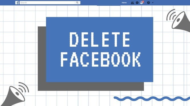 #DeleteFacebook là phong trào được cộng đồng mạng kêu gọi để phản đối Facebook. Nguồn: FossBytes