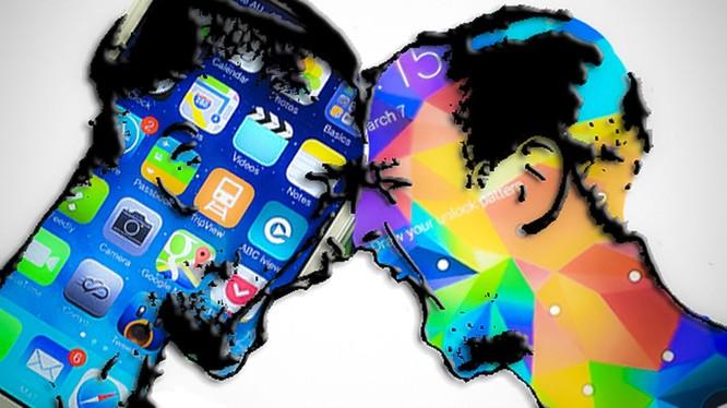 Vụ tranh chấp bản quyền thiết kế giữa Apple và Samsung bắt đầu từ năm 2011. Ảnh: CNET