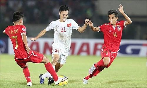 Đội tuyển Việt Nam đã không gặp may mắn trong trận đấu với Myanmar (ảnh VnExpress)