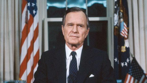 Tổng thống thứ 41 của Mỹ, George H.W Bush. Ảnh: Global Research