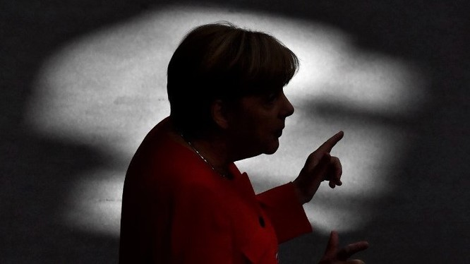 Thủ tướng Đức Angela Merkel phát biểu tại Hạ viện Quốc hội Liên bang Đức ở Berlin năm 2017. Ảnh: AFP.