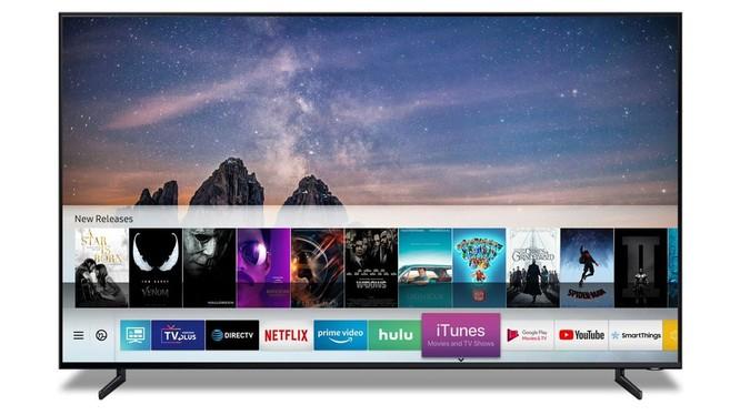 iTunes sẽ sớm có mặt trên các mẫu TV Samsung vào thời gian tới. Ảnh: TheVerge