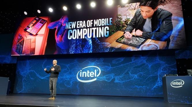 Intel giới thiệu dòng vi xử lý Ice Lake tại CES 2019. Ảnh: TechTimes.