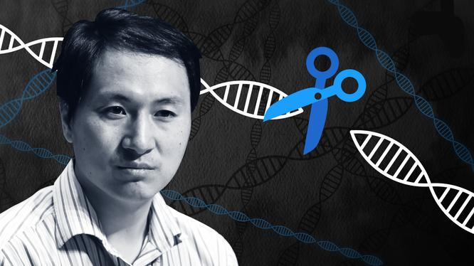 Nhà khoa học Hạ Kiến Khuê (He Jiankui), người chịu trách nhiệm cho nghiên cứu chỉnh sửa gene trên cặp bé gái song sinh. Ảnh: USA Today.