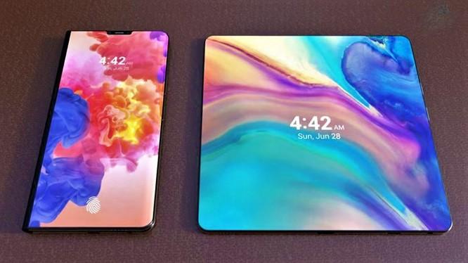 Hình ảnh rò rỉ về mẫu smartphone gập của Huawei. Nguồn: Gizmochina